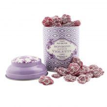 Boite bonbon violette Bourg 1900