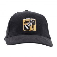 Face casquette noire Armoirires
