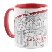 Profil gauche mug rouge Signe du Triomphe