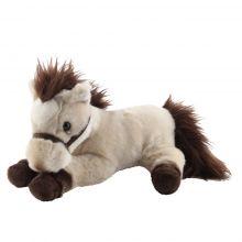 Peluche cheval allongé beige