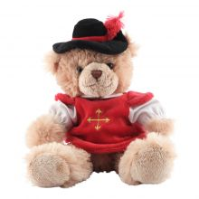 Peluche ours mousquetaire