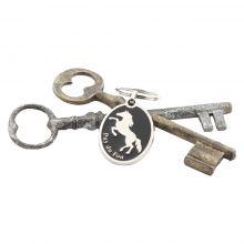 Porte-clé Silouhette Cheval Noir