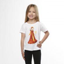 T-shirt enfant blanc Marguerite